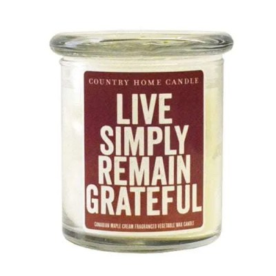 Live Simply - Inspirational Candle