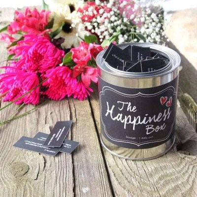 The Happiness Box With Flowers