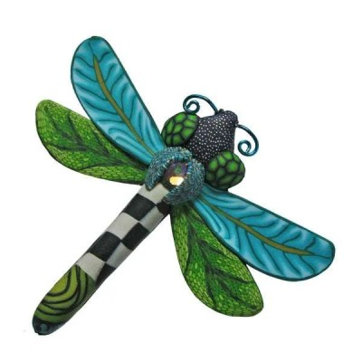 Blue Dragonfly Pin by Wanda Shum