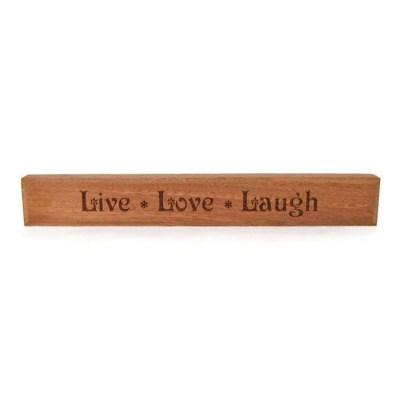 Live Love Laugh Block Sign