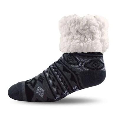 Pudus Geometric Black Socks