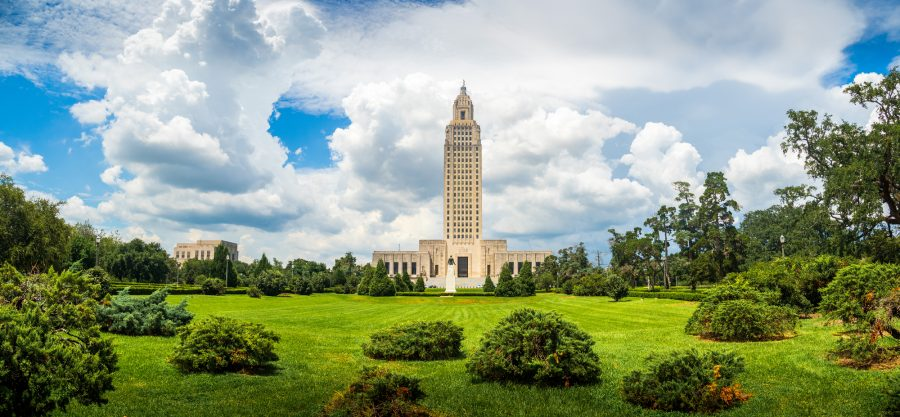 The famous and historic Art Deco Louisiana State Capitol Building, Baton Rouge, LA.