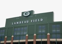 An exterior shot of Lambeau Field in Green Bay, Wisconsin.