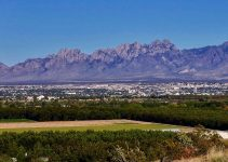 Las Cruces and the Organ Mountains in the USA.