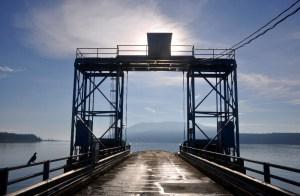 The Lummi Island ferry dock is the gateway to Baker Preserve Trail.