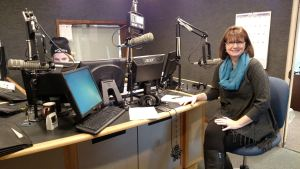 Patti Rowlson on the radio