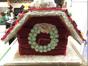 Tons of flour, Rice Crispies, fondant and sugar went into the construction of this winning house. Photo credit: Darcy Walters.