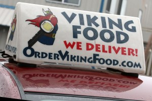 Viking Food delivers hot fresh food from local restaurants. Photo credit: Theresa Golden.