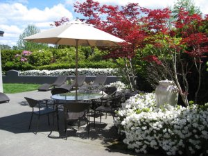 t's the little things such as a comfortable setting outside that make a difference says Terri Sirmans, General Manager. Photo courtesy: Holiday Inn Express Bellingham.