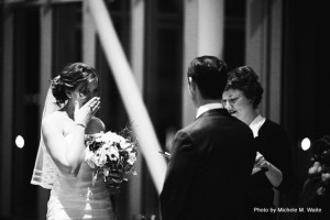 """""""I've officiated over 75 weddings and I still get choked up,"""" says Jen Bean. Photo courtesy: Marry Me Wedding Ceremonies."""