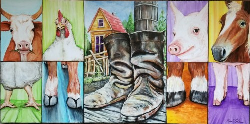 """The piece is entitled """"Walking In Each Other's Shoes."""" Photo courtesy: Kevin Coleman."""