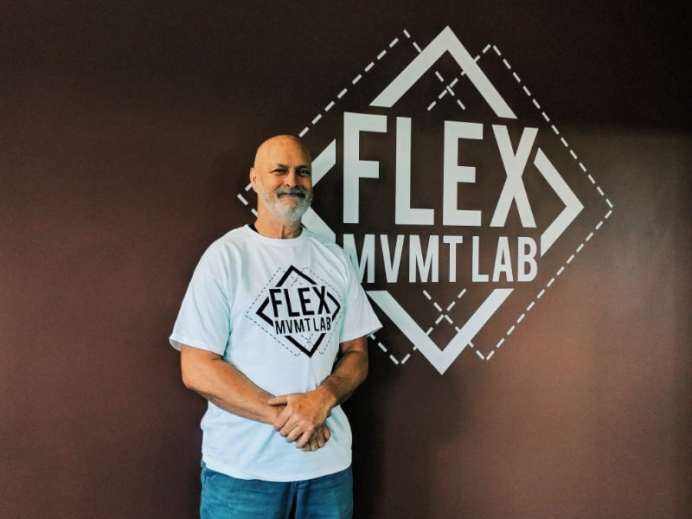 Bill Portray is a four-time blackbelt who is teaching the self defense portion of FRONTLINE. Photo courtesy: Flex Movement Lab.