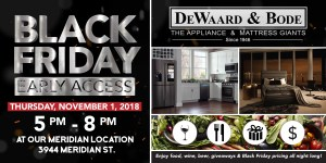 Black Friday Early Access Kickoff Event @ DeWaard & Bode | Bellingham | Washington | United States
