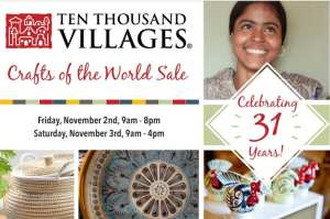 31st Annual Ten Thousand Villages Crafts of the World Sale @ Good News Fellowship  | Ferndale | Washington | United States
