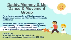 """Lynden """"Daddy/Mommy and Me"""" Therapeutic Dance/Movement Group @ The Barre Pointe"""