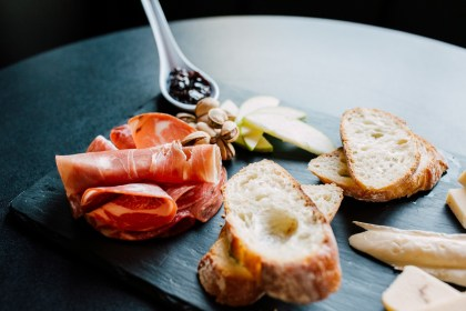 The meat and cheese plate at Galloway's is full of tasty morsels. Photo credit: Kathryn Moran.