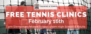 Free Beginner Tennis Clinics @ Bellingham Training & Tennis Club