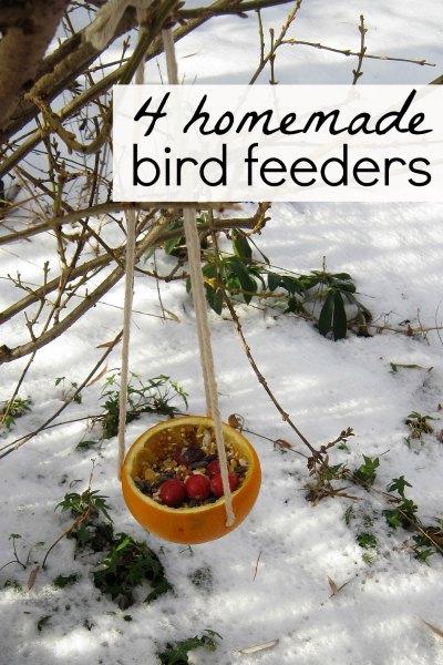 Easy bird feeder crafts for kids
