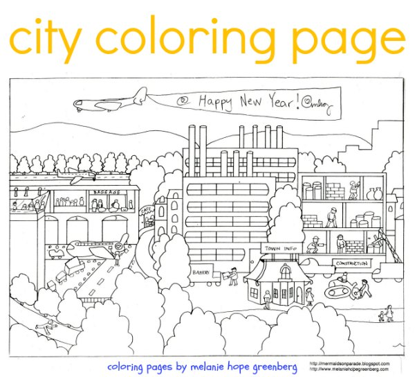 city coloring pages # 12