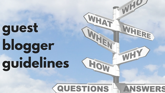 guest blogger guidelines