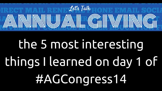 the 5 most interesting things I learned on day 1 of #AGCongress14