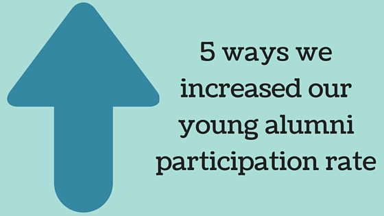 5 ways we increased our young alumni participation rate