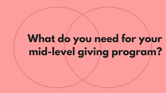 What do you need for your mid-level giving program-