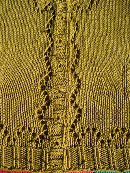 Eyelet sweater, detail