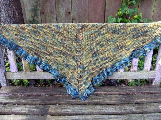 The moss stitch shawl