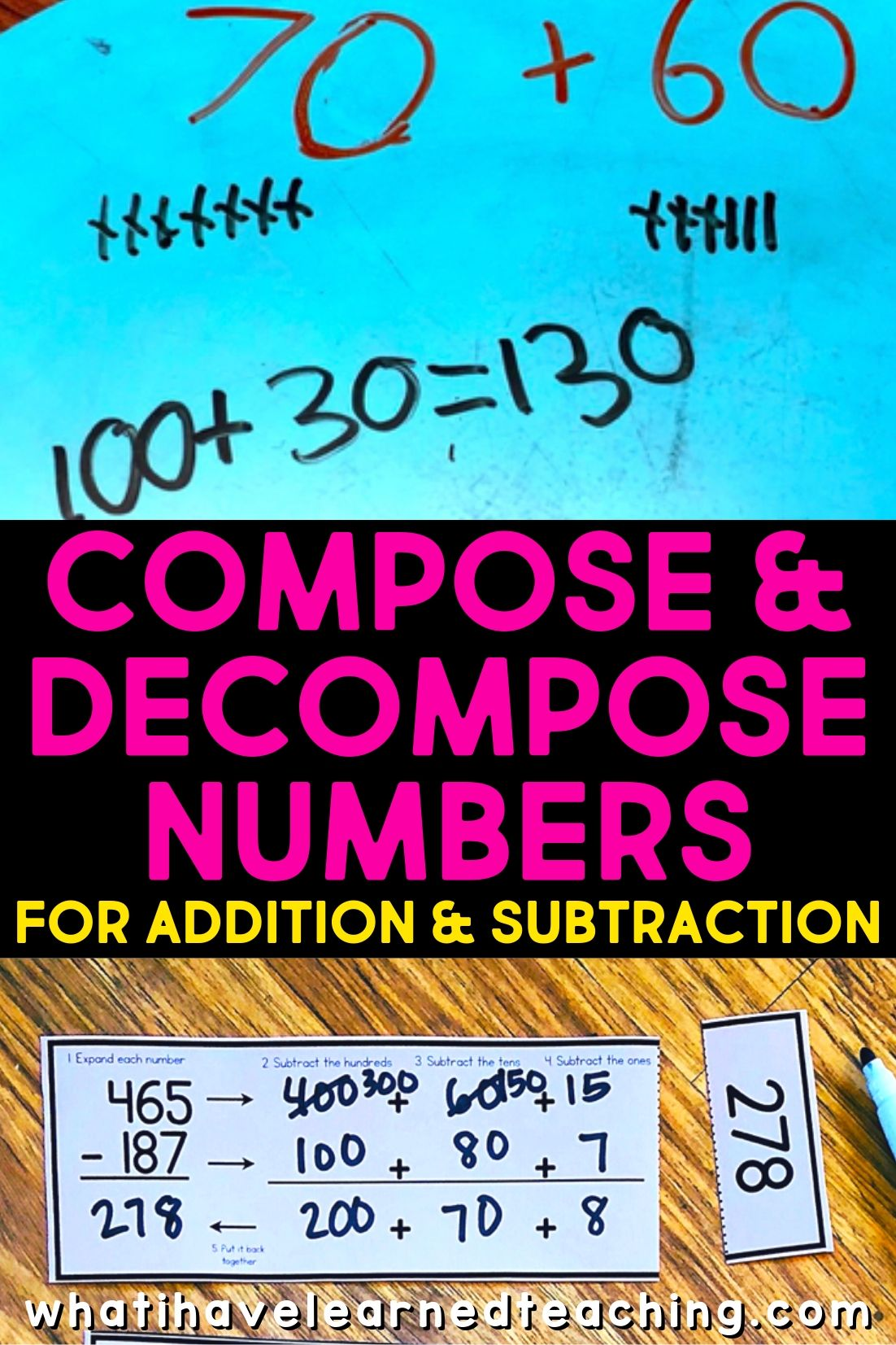 Compose Amp Decompose Numbers For Addition Amp Subtraction