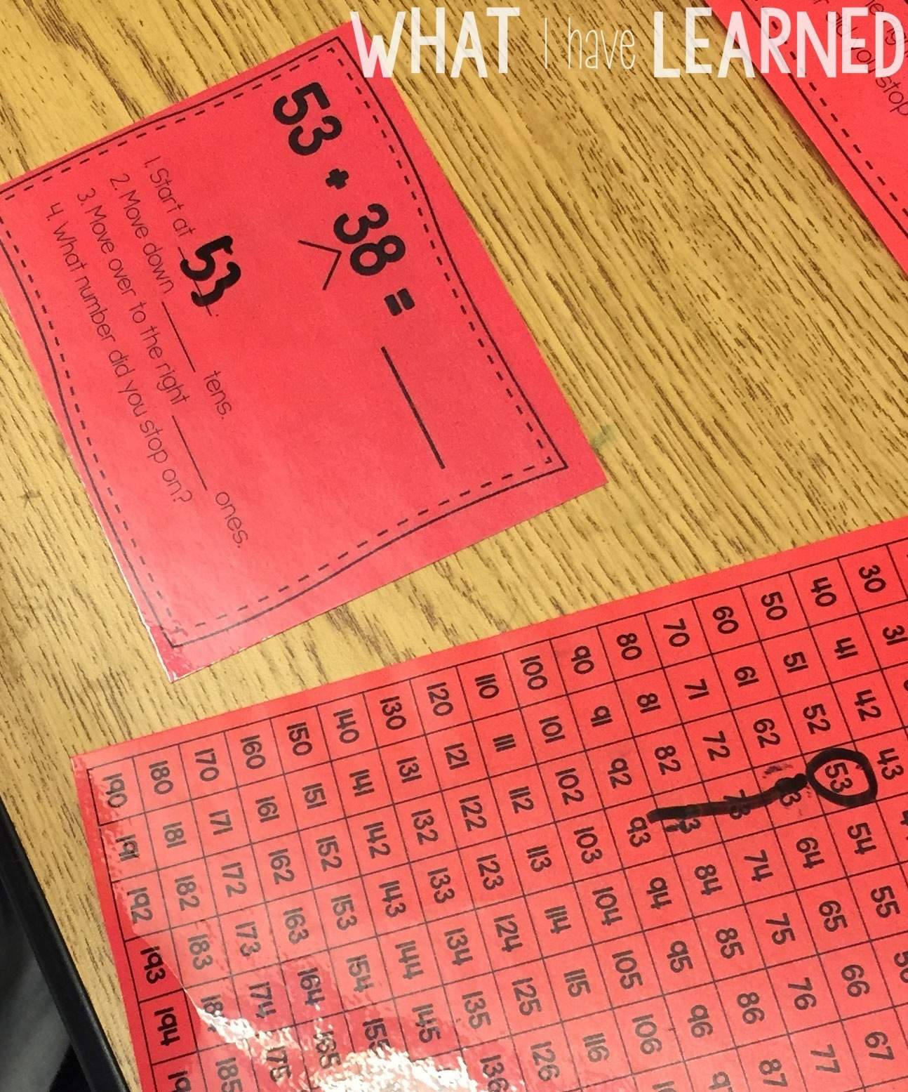 Using Mental Math Worksheet Number Line
