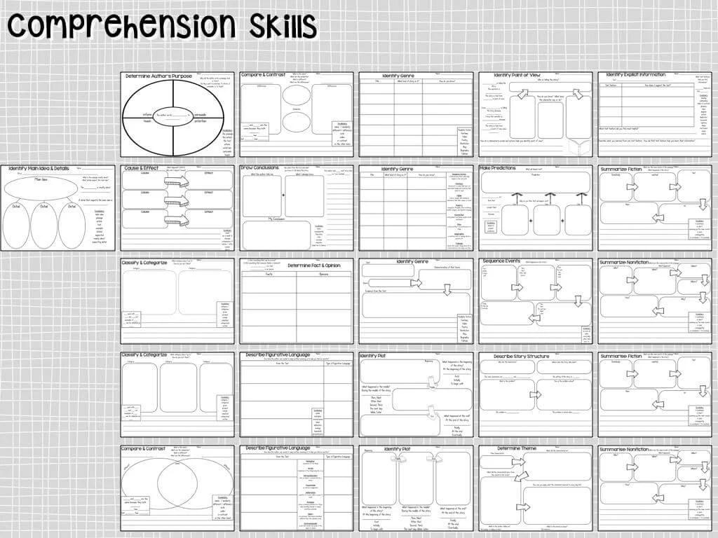 Comprehension Graphic Organizers 2nd Grade