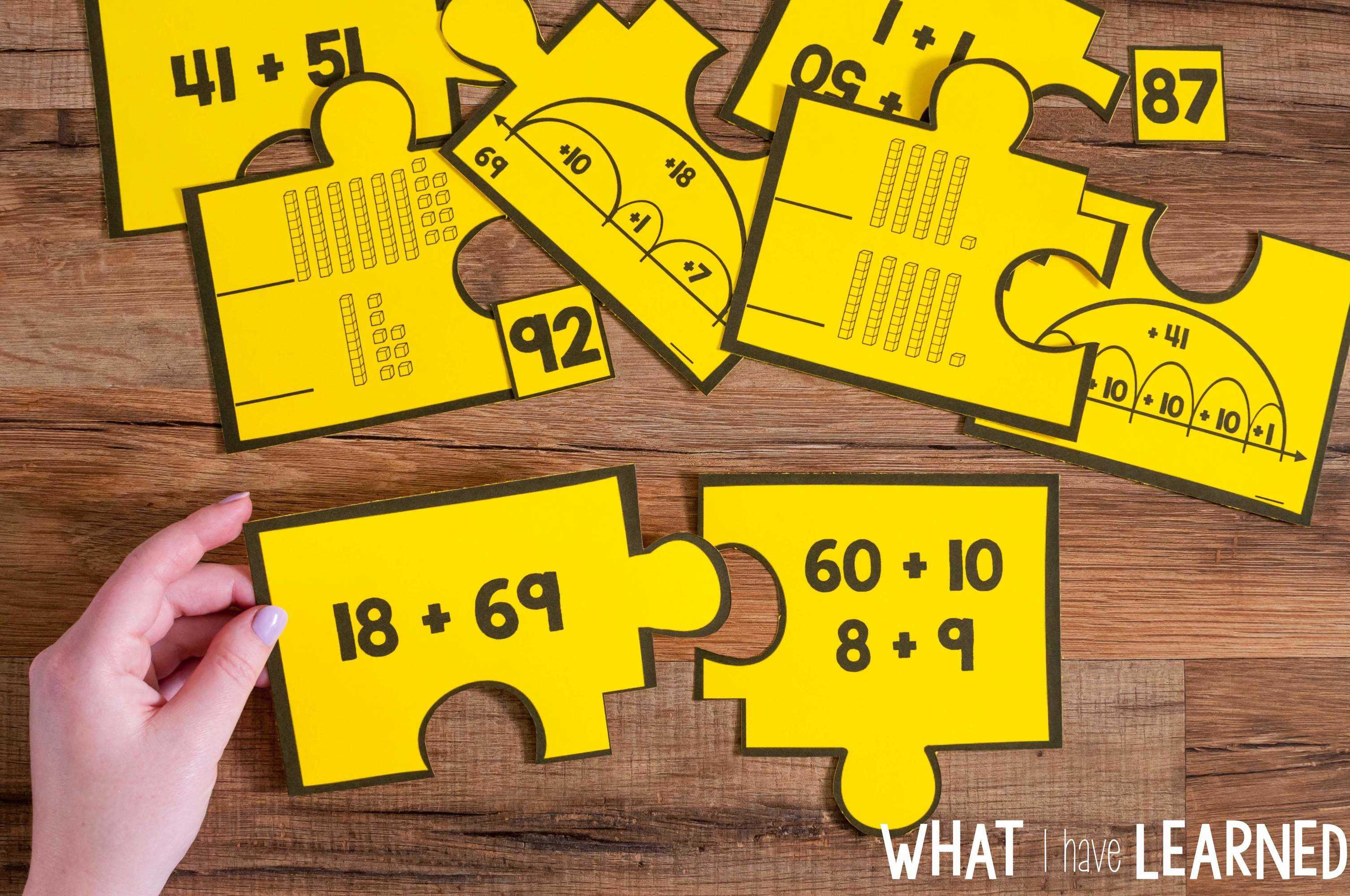 Number Puzzles Bundle For Second Grade What I Have Learned
