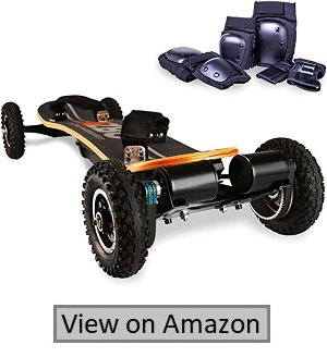 AZBO Off Road Electric Skateboard With Remote Control- 3300W Dual Motor-UL2272 Certified High Speed 25 MPH Motorized Mountain Y8 Longboard With Bindings For Cruising |LG Battery (Gray)