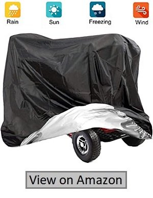 VVHOOY Mobility Scooter Cover, 210D Oxford Heavy Duty Waterproof 4 Wheel Power Scooter Travel Storage Cover All-weather Outdoor Protection Dust Cover 55×26×36 inches