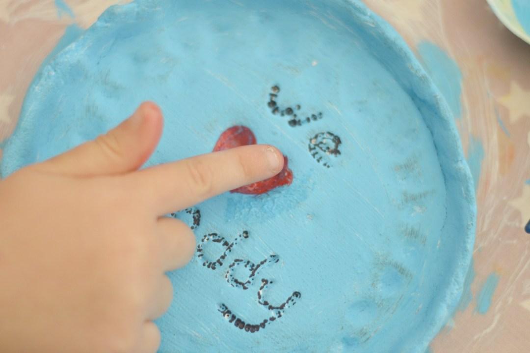 Thumbprint heart dish