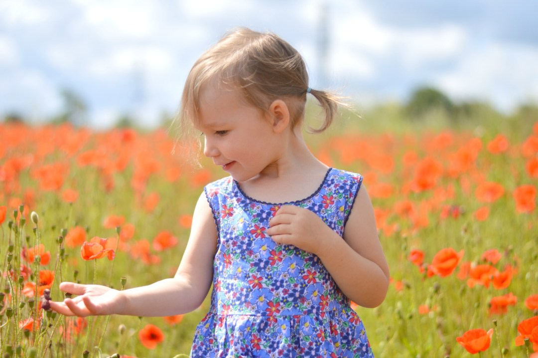 LJ in the poppies