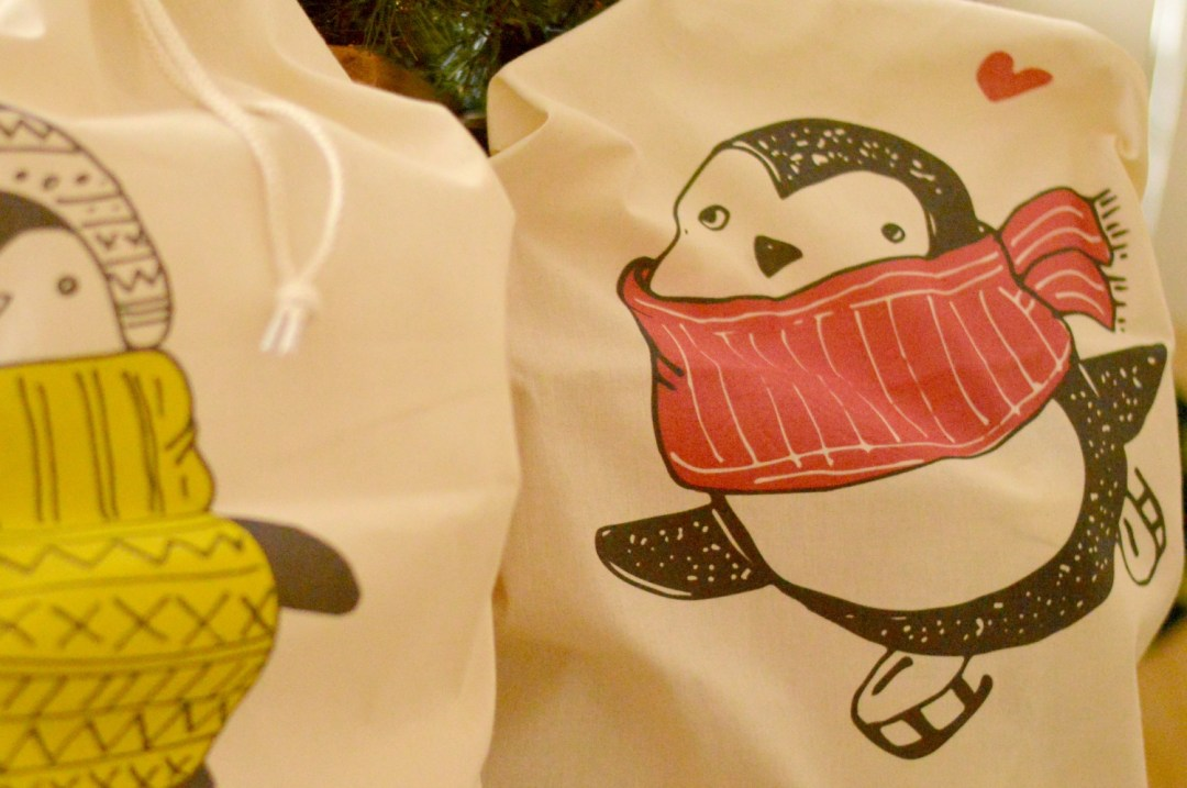Penguin Christmas Sacks