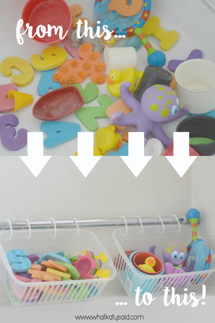 Organise your bathroom kids bath toys hack