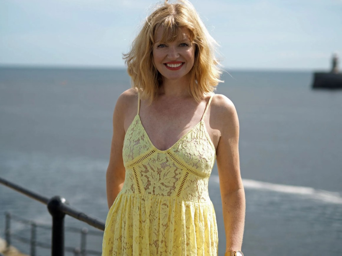 what-lizzy-loves-yellow-lace-dress-yellowlacedress-over-40