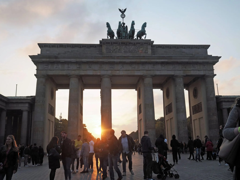 Brandenburg gate at sunset, Berlin, What Lizzy Loves