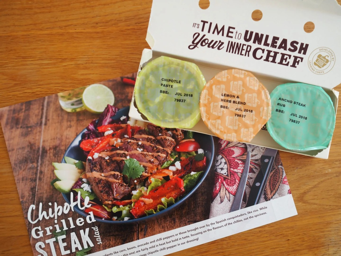 what lizzy loves simply cook recipe box chipotle steak