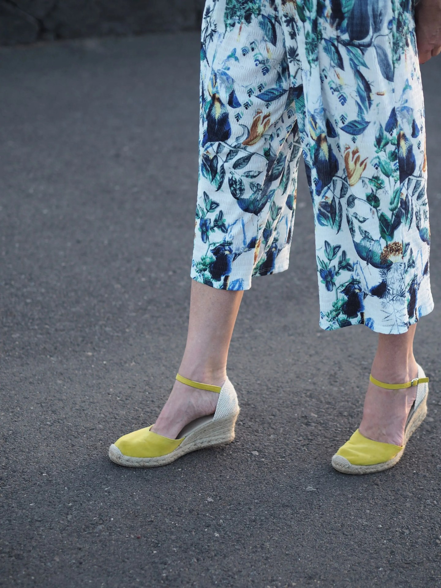 what lizzy loves yellow suede espadrilles