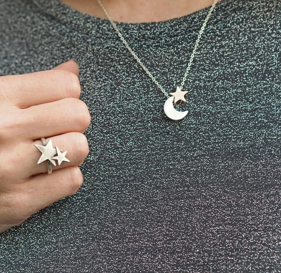 what lizzy loves moon star necklace ring jewellery