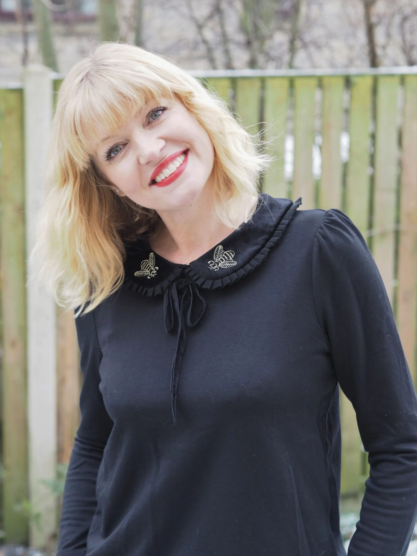 What Lizzy Loves embroidered bee top