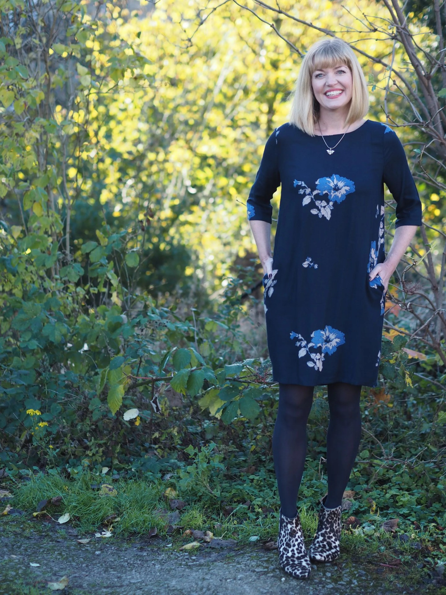 what lizzy loves tulchan floral tunic dress bee jewellery over 40