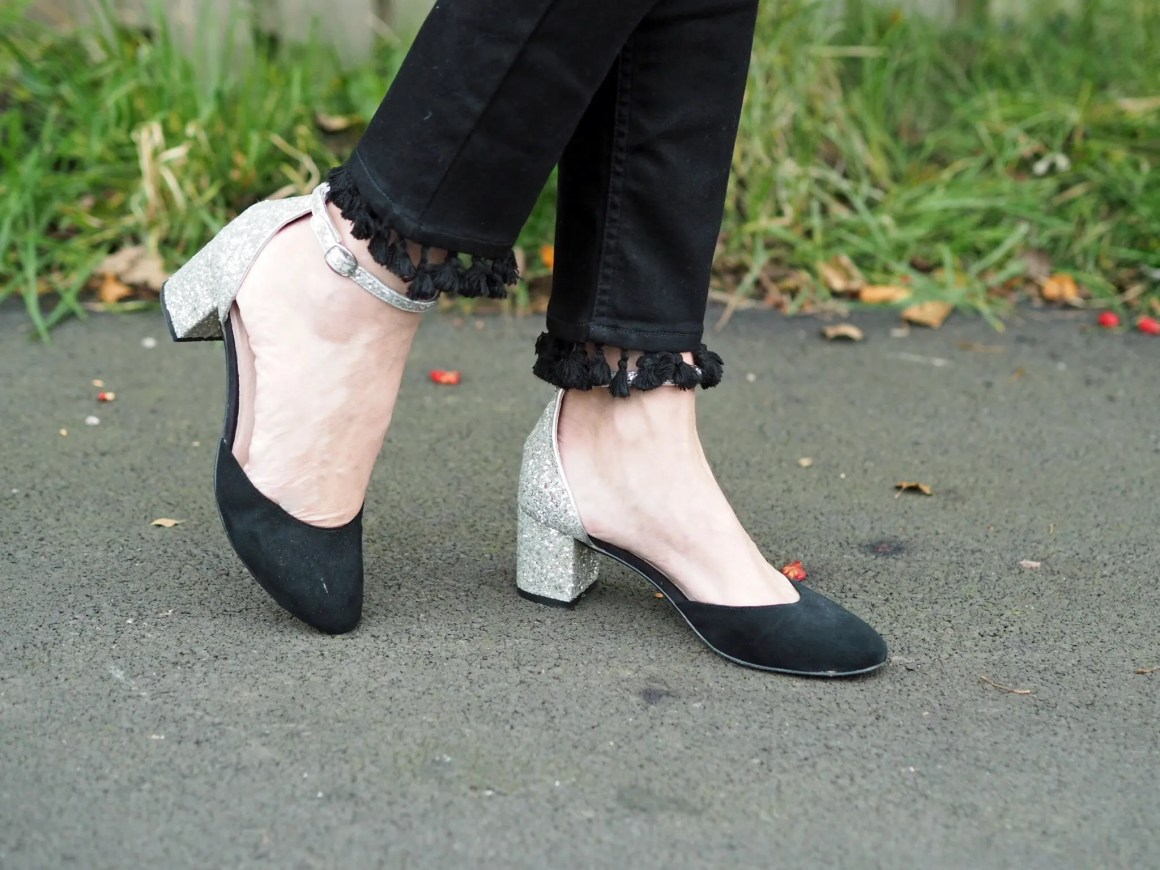 what lizzy loves pom pom jeans glitter shoes