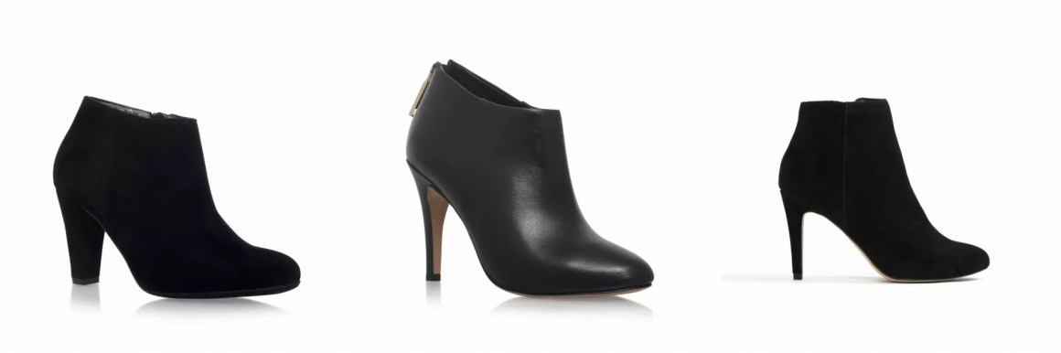 Black high-heeled ankle boots