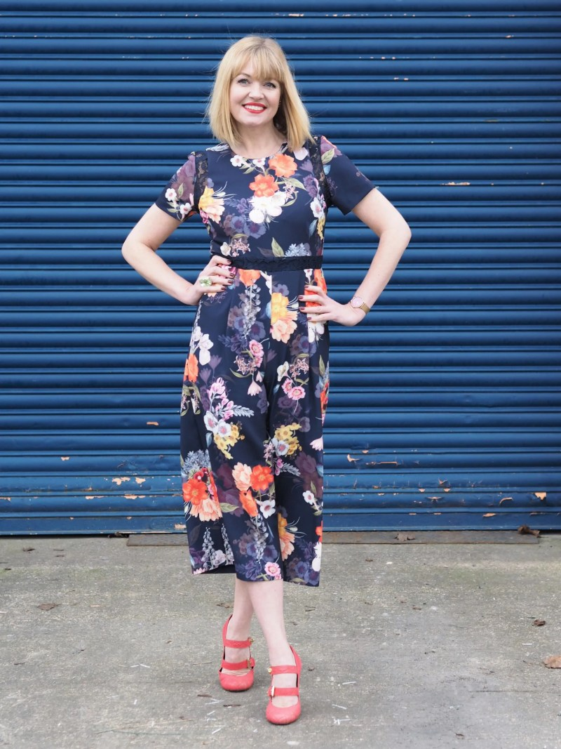 What Lizzy Loves spring trends bold colour floral jumpsuit