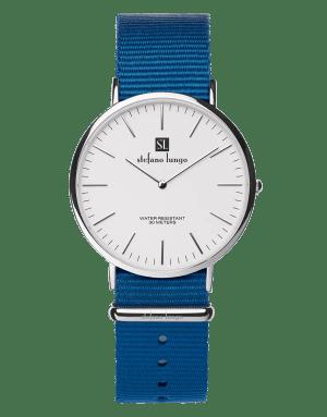 Stefano Lungo watch, lapis blue
